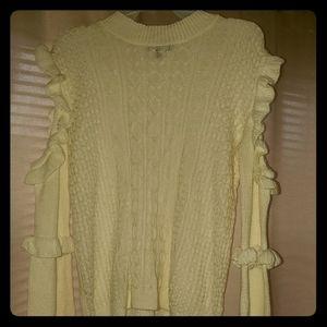 Cotton half white sweater